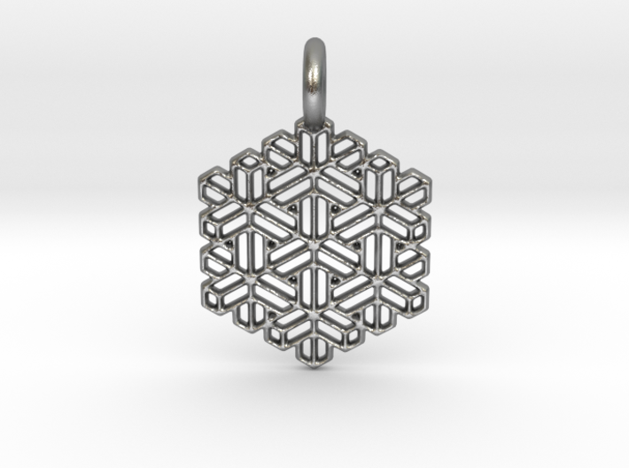 Snow Crystal 3d printed Snow Crystal in silver is spectacular.