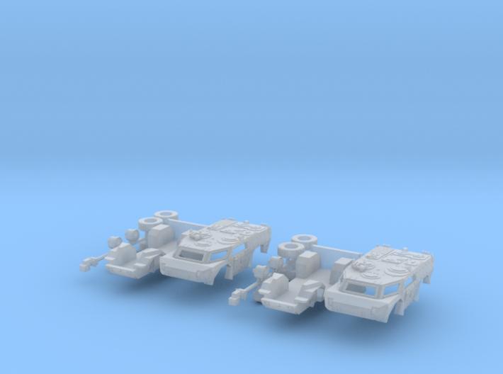 2x Spähwagen / Scout car Fennek 1:160 3d printed