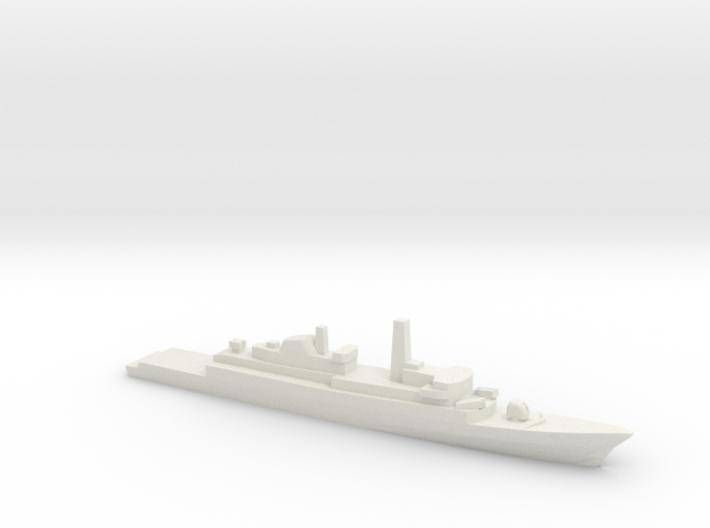 Type 21 frigate w/ Exocet AShM, 1/1800 3d printed
