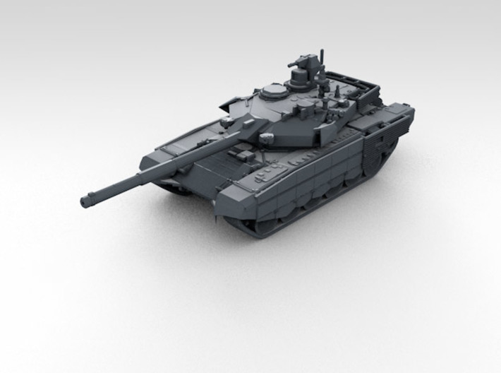 1/285 Scale Russian T-90MS Tank Set (4) 3d printed 3d render showing product detail
