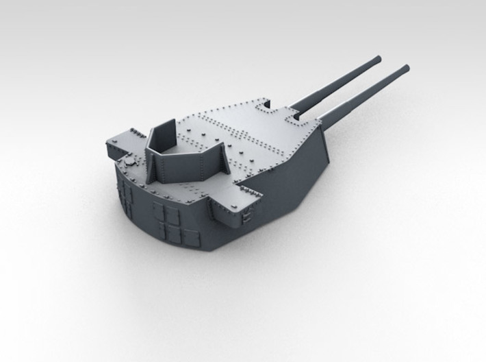 "1/600 HMS King George V 14"" Turrets 1941 3d printed 3d render showing product detail (B Turret)"