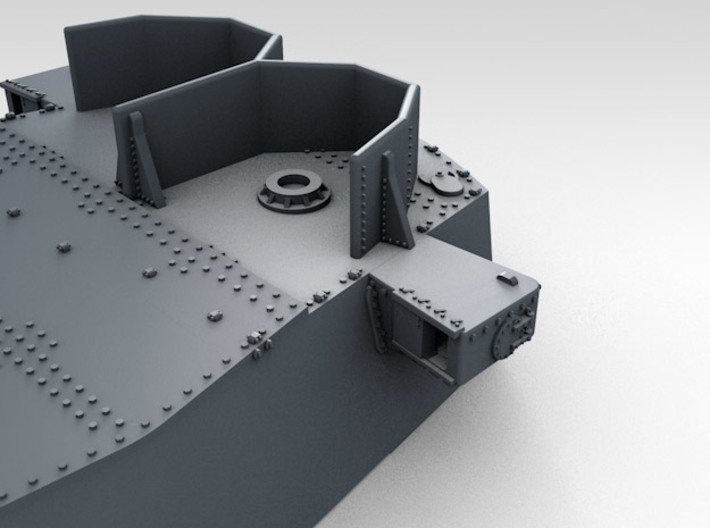 "1/600 HMS King George V 14"" Turrets 1941 3d printed 3d render showing product detail (X Turret)"