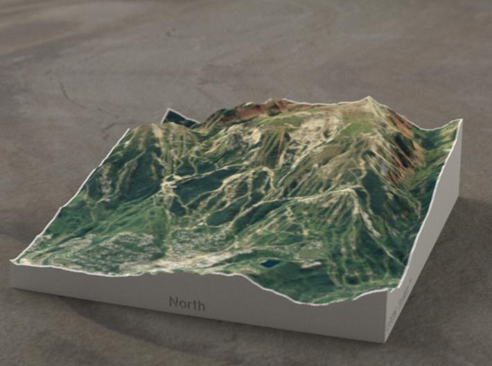 Snowmass, Colorado, USA, 1:50000 3d printed