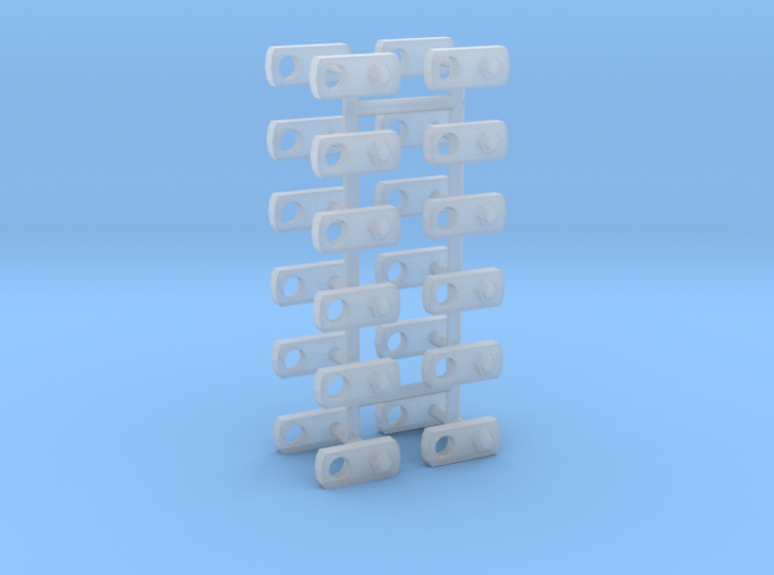 1/50 Locking pin plates: Pack of 24 3d printed