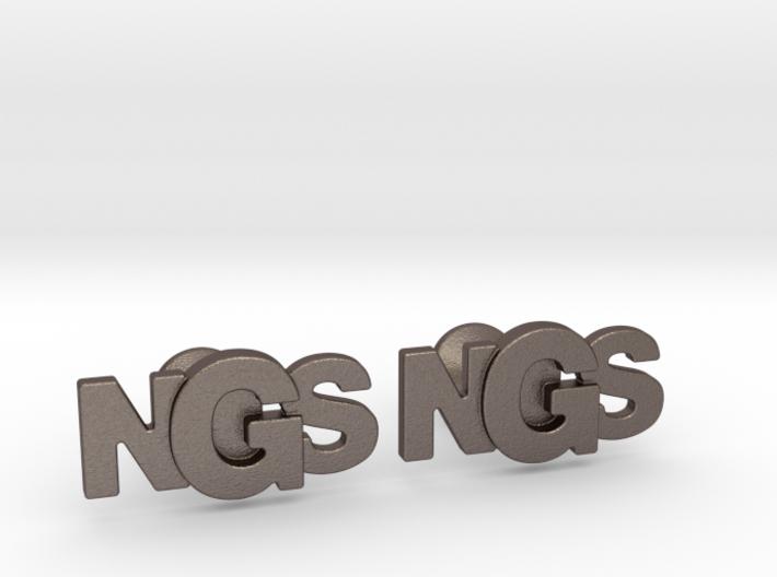 Monogram Cufflinks NSG 3d printed