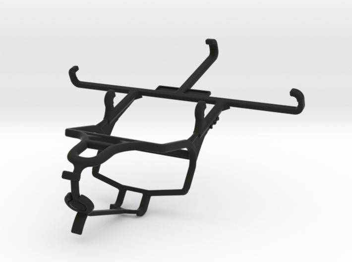 PS4 controller & QMobile Noir X900 - Front Rider 3d printed