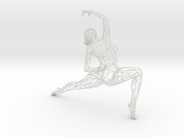 Wireframe Dancer Girl 005 3d printed