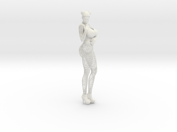 Sexy Wireframe Woman Hipoly 35cm 3d printed