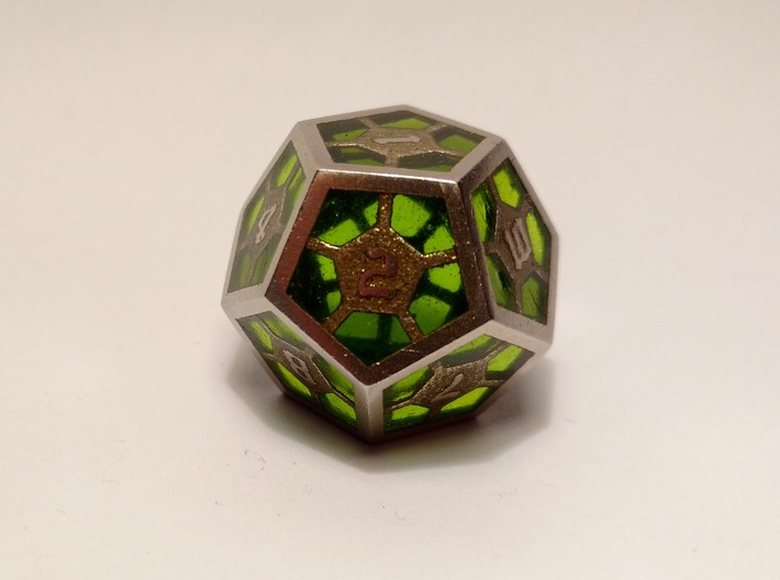 D12 Epoxy Dice 3d printed Epoxy is not printed and has to be added later on by the customer