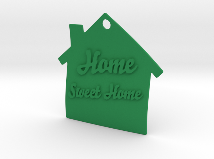 Home Sweet Home Keyring 3d printed