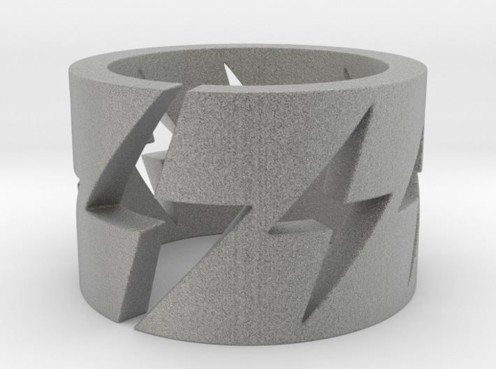 Lightning Bolts - Ring Size 8.5 3d printed