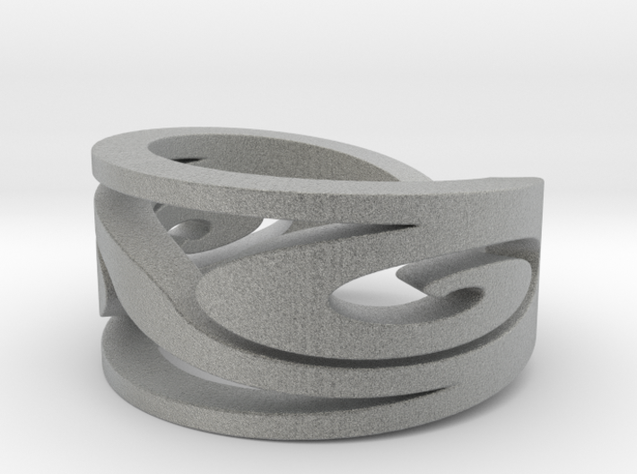 Celtic Swirl - Ring Size 8.5 3d printed