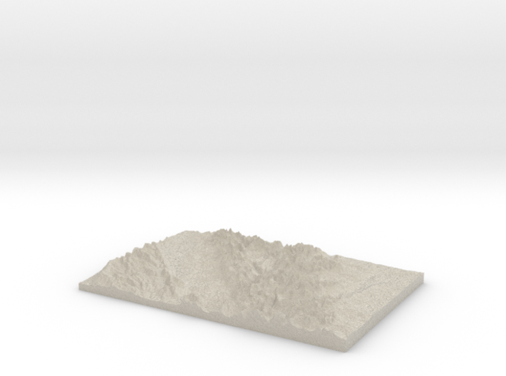 Model of Camas Lake 3d printed