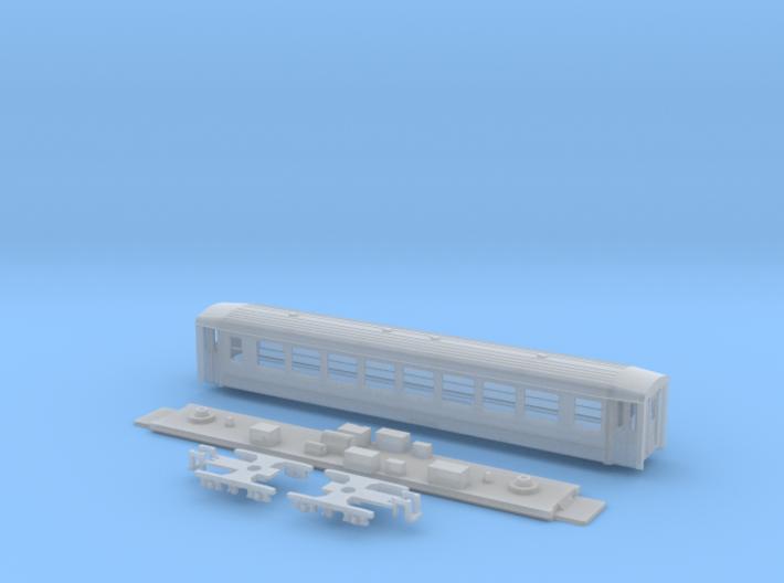 Passenger car type B-1L w/bogie 3d printed