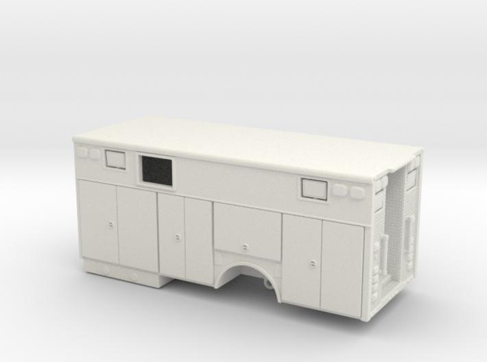 1-87 Heavy Rescue Single Axle non-rollup w/ window 3d printed