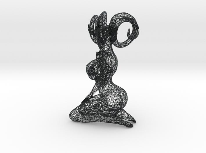 Wireframe Evil Girl 001 3d printed