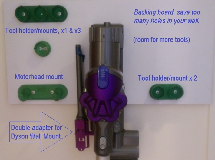 For Dyson V6 Wider 2xTool Holder/Mount 3d printed