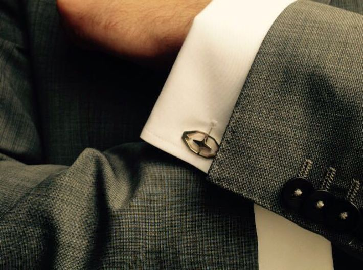 HEAD TO HEAD 44, Bend Cufflinks 3d printed
