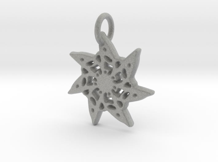 Seven-Pointed Snowflake 3d printed