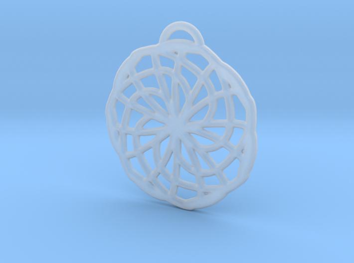 Labyrinth Pendant - Medium 3d printed