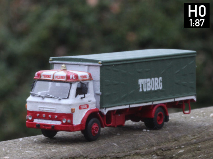 Ford D series Brewery truck H0 scale (parasol) 3d printed