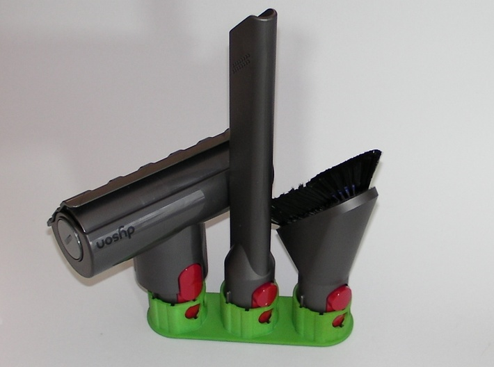 Holder - Dyson V8 x2 Tools - Wall Mount 3d printed 3 x example. Medium (51mm) is a bit tight with the motorhead