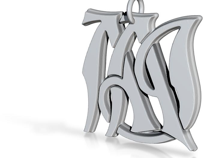 Monogram Initials AAJ Pendant 3d printed