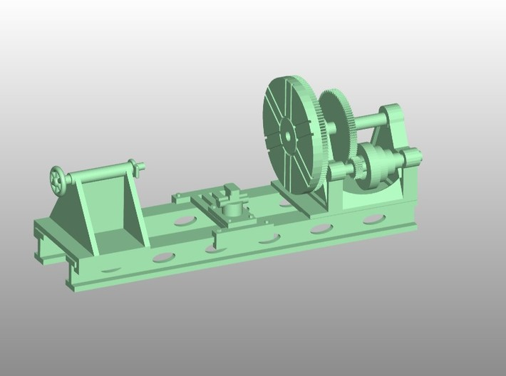 Wheel Lathe HO Scale Narrow Scale 1/87 3d printed