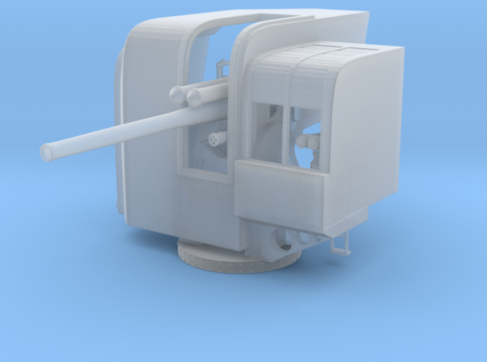 "1/72 IJN 12.7 cm/40 (5"") Type 89 Naval Gun Single 3d printed"
