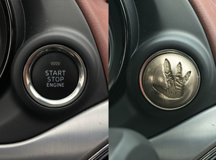 MAZDA Engine Button   Total Recall Reactor 3d printed