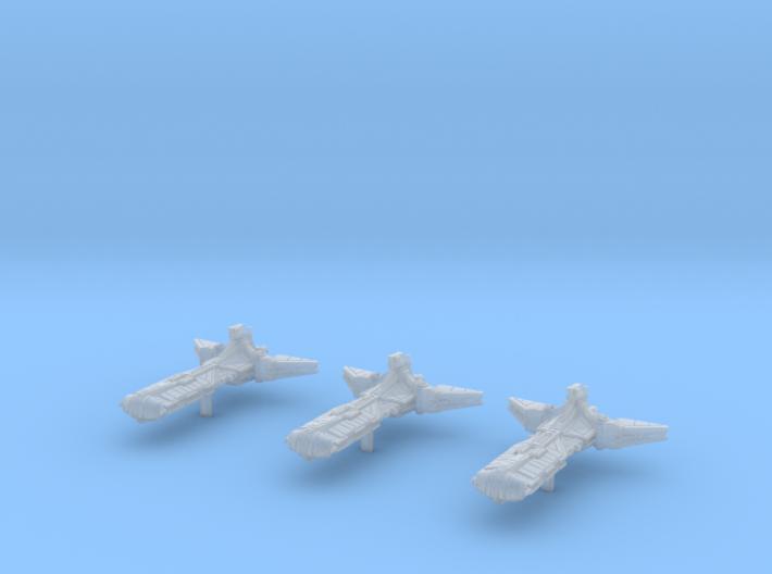 3x Pelta Frigate (1/7000) 3d printed
