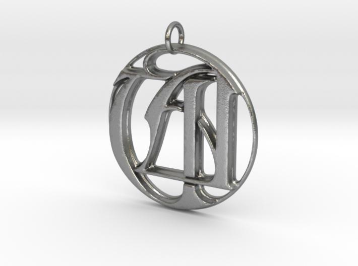 Monogram Initials UA Pendant 3d printed