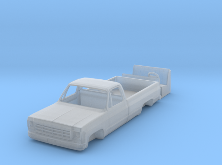 1/87 1976 Chevy K10 Pick up with interior 3d printed