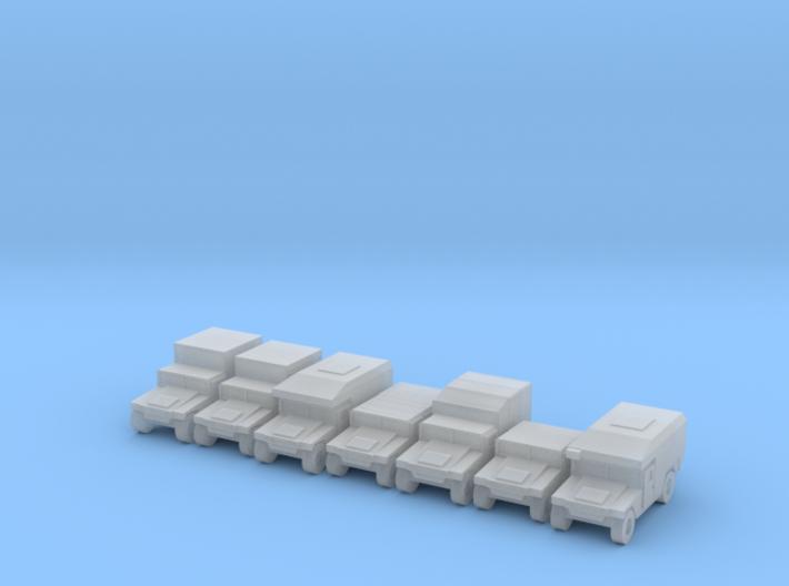 1/285 Humvee HMMWV 7 types 3d printed