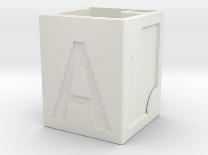 Letter pen case 3d printed