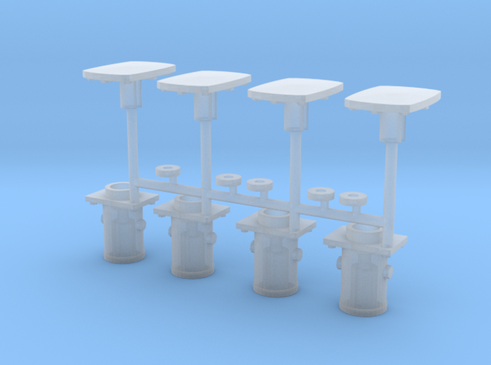 PBA 7mm wagon Buffers 3d printed