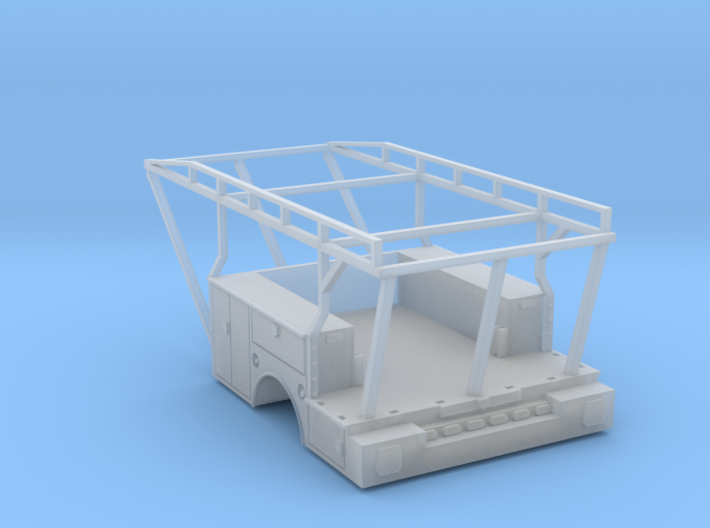 Utility Tool Box Stake Bed - 1-87 HO Scale 3d printed