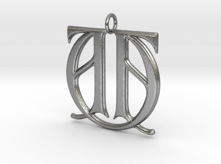 Monogram Initials AAU Pendant 3d printed