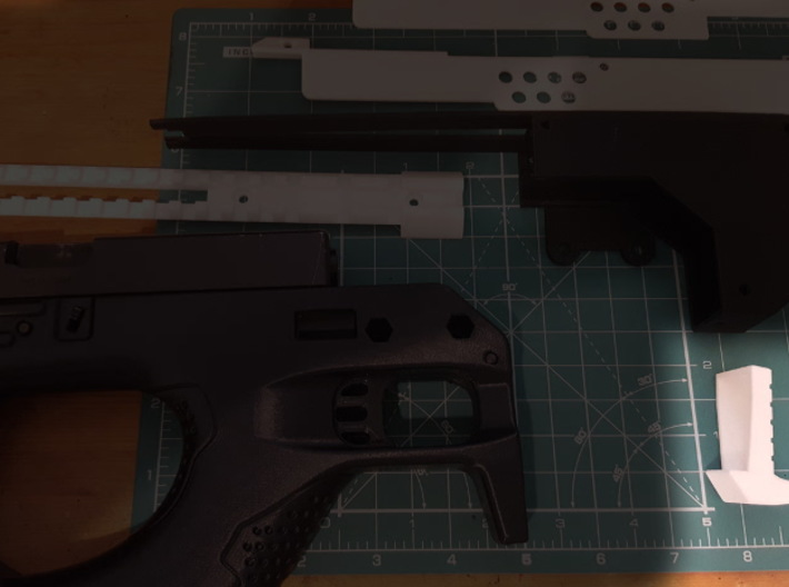 Gladius V1 Grip (part 3 of 5) 3d printed Pre-assembly - Part highlighted