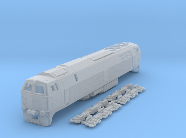 N Scale MZ III locomotive ex-DSB 3d printed