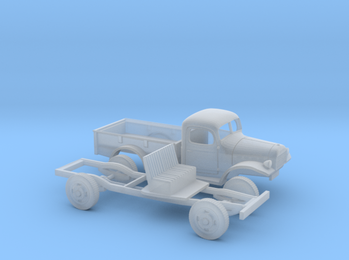 1/87 1945-50 Dodge Power Wagon PU 3d printed