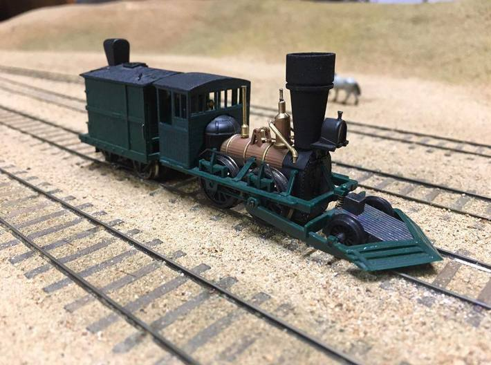 NEW John Bull cab & stack (HO Scale) 3d printed