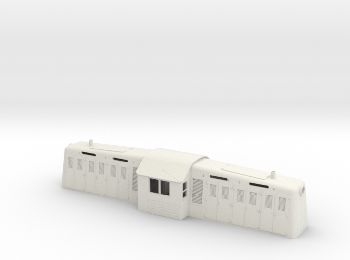 1/64 S-scale Whitcomb 65 Ton Loco Shell 3d printed