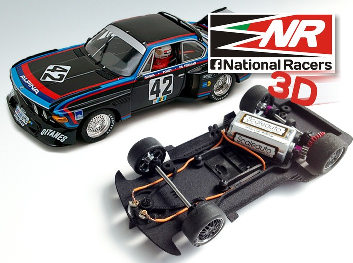 3D Chassis - Fly 3.5 CSL Combo 3d printed Chassis compatible with fly model(slot car and other parts not included)