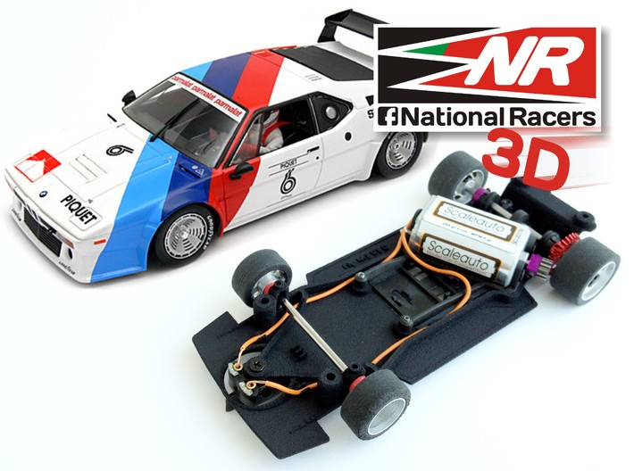 3D Chassis - Fly M1 Combo 3d printed Chassis compatible with fly model (slot car and other parts not included)