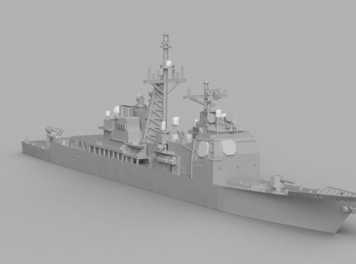 1/2000 USS Bunker Hill  3d printed Computer software render