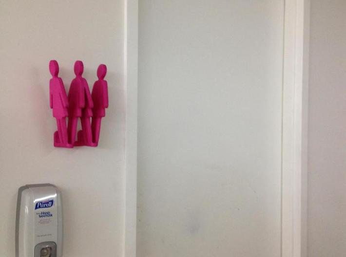 Bathroom Sign - Handi 3d printed