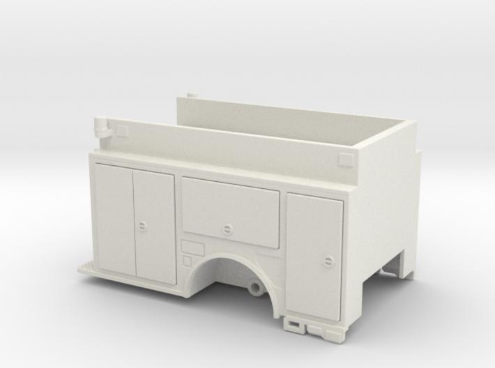 1/64 low hosebed pumper body 3d printed