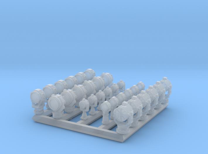 1/700 RN WW2 Searchlight Upgrade Set 3d printed 1/700 RN WW2 Searchlight Upgrade Set