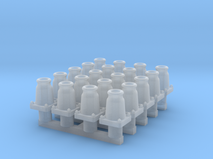 RCH self-contained buffers for wagons, x20 3d printed